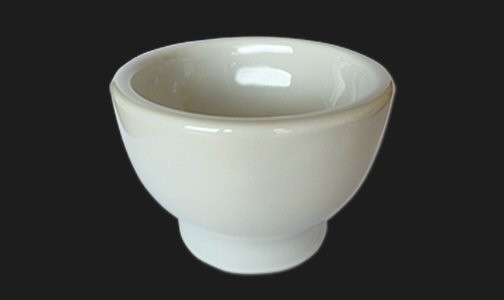 Rasiertiegel aus Keramik, weiß