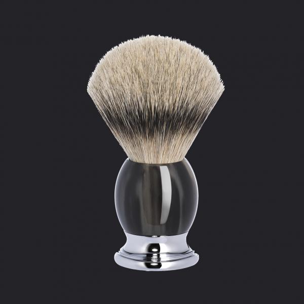 shaving brush from MÜHLE handmade badger brush, hadle made from original horn