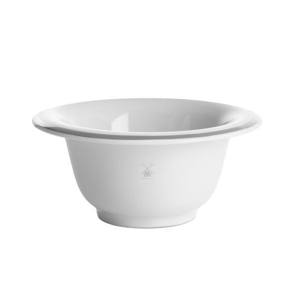 shaving bowl from MÜHLE, porcelain white, with a platinum rim