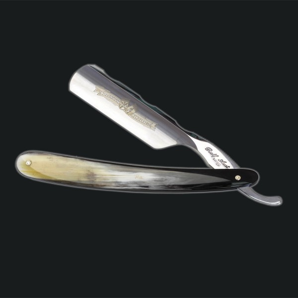 "6/8"" razor with round crown and hollow shaped back"